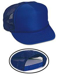 5 Panel High Crown Mesh Back Trucker Hat -Polyester Foam Front