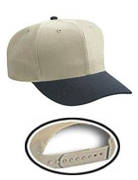 Youth 6 Panel Mid Profile Baseball Cap Wool Blend Twill