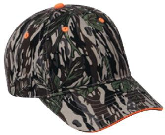 Camouflage Cotton Twill Sandwich Visor Low Profile Pro Style Caps