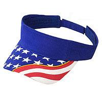 United States Flag with Yellow Ribbon Visor Superior Brushed Cotton Twill (Solid Colors)