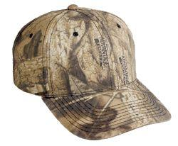 6 Panel Brushed Cotton/Poly Twill Camo Cap