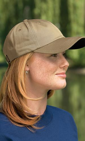 Twill Cap with Contrasting Underbill