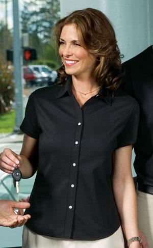 Signature� - Ladies Rapid Dry Button-Front Sport Shirt