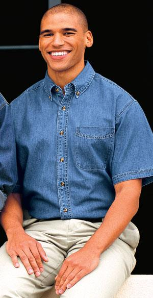 - Short Sleeve Denim Shirt