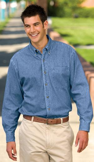 Long Sleeve Denim Shirt.
