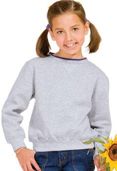Sport-Tek - Youth Crewneck Sweatshirt with Tipped Trim