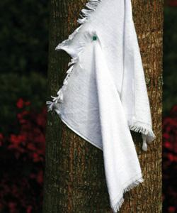 Fingertip Towel Fringed End Grommeted & Hooks