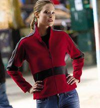 Ladies' Eclipse 100% Polyerter Full-Zip Bonded Fleece Shell