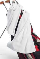 100% Cotton Hemmed Tri-Fold Golf Towel with Grommet