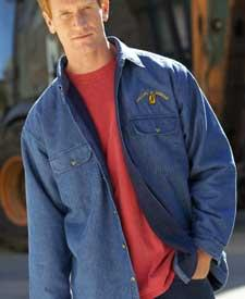 Adult Rugged Wear Denim Shirt-Jacket with Iceberg Fleece Lining
