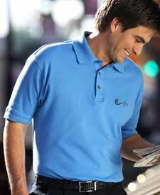 Men's Egyptian Interlock Short-Sleeve Polo