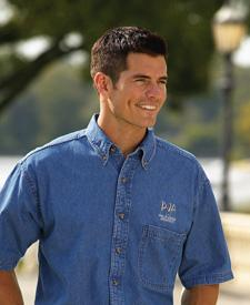 Adult Cypress Denim Short-Sleeve Shirt